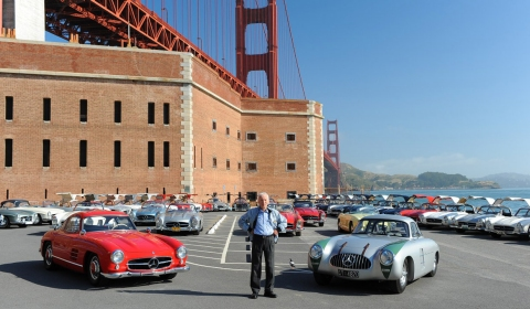 Mercedes-Benz Recreates Photo with Gull Wings and Golden Gate Bridge from 1961