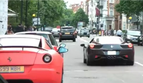 Video Arab Owned Supercars in London