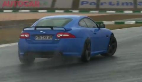 Video Autocar Reviews Jaguar XKR-S at Portimao