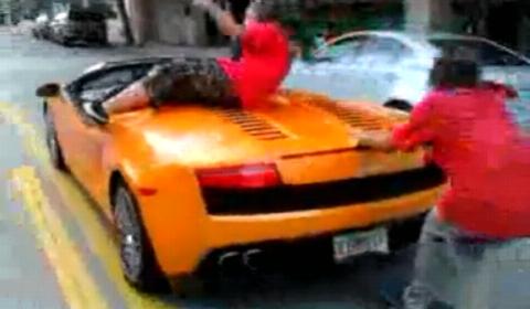 Video Crazy Drunk Guy Lets Skater Drive His Lamborghini
