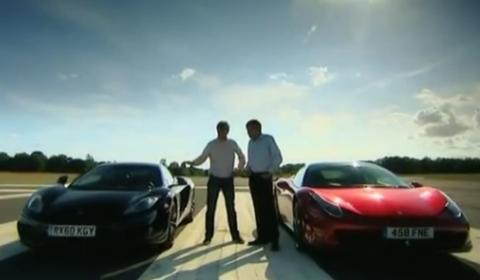 video: fifth gear mclaren mp4-12c up against ferrari 458 italia