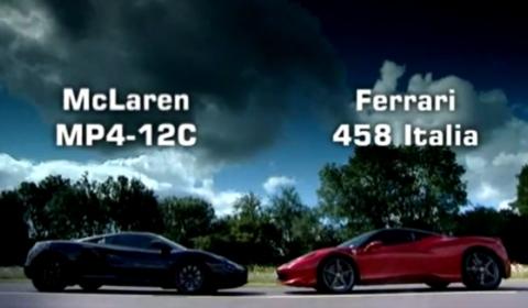Video Fifth Gear McLaren MP4-12C VS Ferrari 458 Italia Teaser