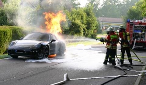 2012 Porsche 911 Prototype Burns Down in Germany