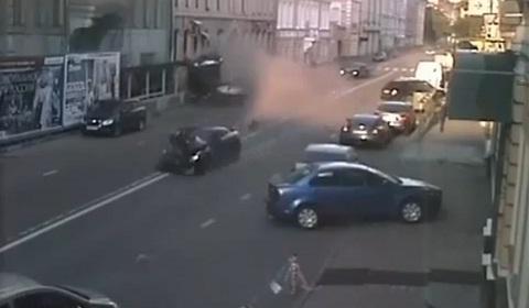 Nissan GT-R Crash Moscow