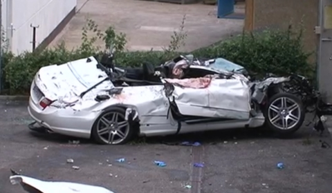 Car Crash: 18-Year-Old Wrecks Mercedes-Benz E350 Convertible