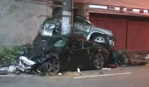 Car Crash Porsche 911 Accident in Sao Paulo Brazil