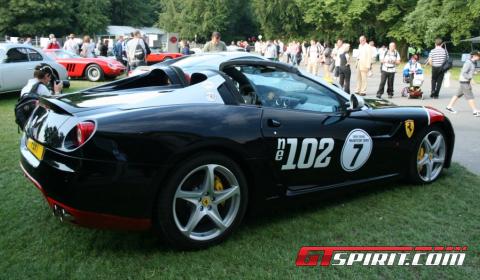 Chris Evans' Ferrari 599 SA Aperta at Goodwood 2011