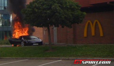 Lamborghini Gallardo Catches Fire In Mcdrive Gtspirit