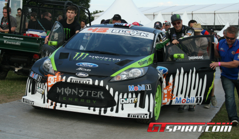Ken Block Shows New Gymkhama Move at Goodwood 2011