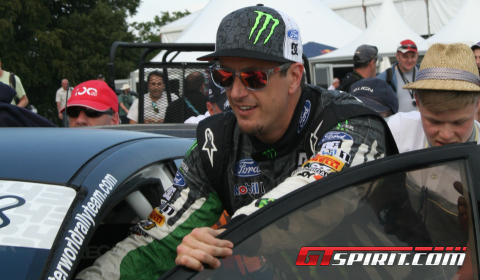 Ken Block Shows New Gymkhama Move at Goodwood 2011 02