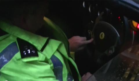 London Police Ferrari F430 Spider impound fail
