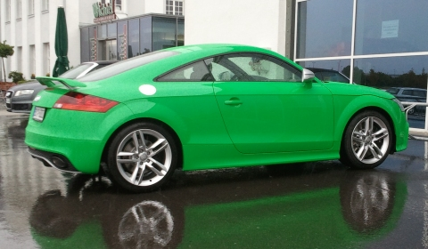 Overkill Audi TT-RS Kermit the Frog Edition