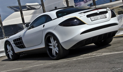 Overkill McLaren SLR Spotted in Marbella Spain 02