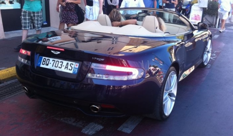 Spotted Aston Martin Virage Volante in St. Tropez 01