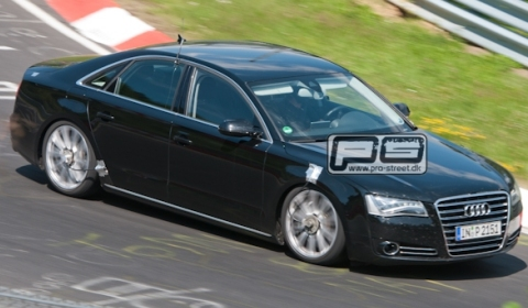 Spyshots 2012 Audi S8 at Nurburgring