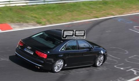 Spyshots 2012 Audi S8 at Nurburgring 01