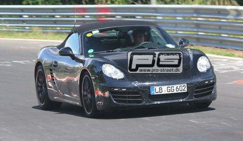 The development of the next-generation 2012 Porsche Boxster is well