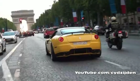 Video Ferrari 599 GTB Novitec Rosso Race 848 in Paris