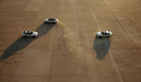 Video Figure 8 Drift Using Three 2012 C63 AMG Coupes