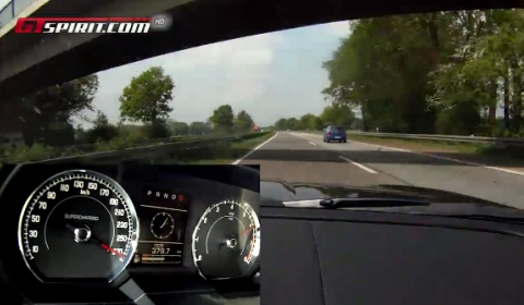 Video Jaguar XKR Speed and Black Edition High Speed Run to 290km/h