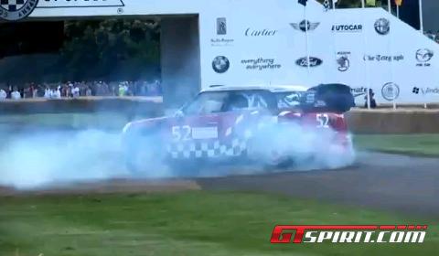 Video MINI JCW WRC Donuts at Goodwood 2011