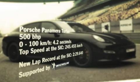 Video Porsche Panamera Turbo Sets Lap Record at Shanghai International Circuit