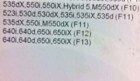 BMW Leaked Document M550dx
