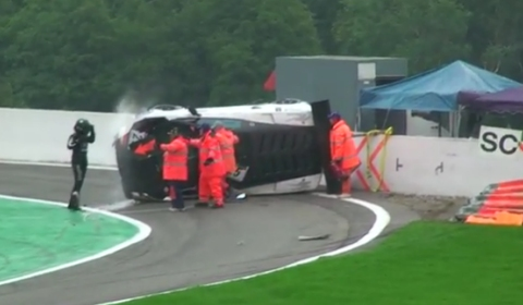 Car Crash Lamborghini Gallardo LP 600 Crash at 24 Hours of Spa