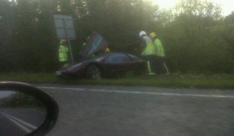 Car Crash Rowan Atkinson's McLaren F1 01