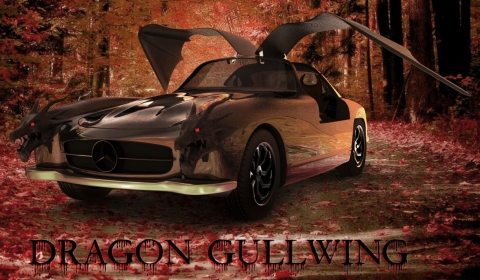 Dragon Gullwing Mercedes 300 SL Concept by M.R.Khosravi Design