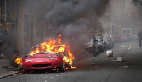 Mazda MX5 On Fire