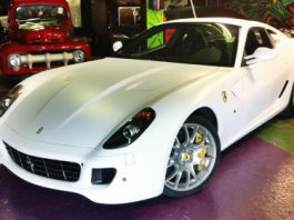Official Ferrari 599 GTB New White Satin Wrap by Dartz