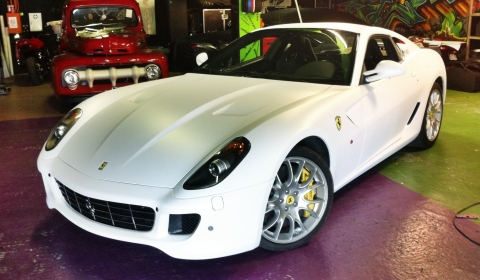 Official Ferrari 599 GTB New White Satin Wrap by Dartz