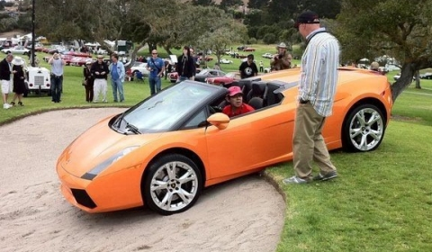 Pebble Beach 2011 Lamborghini Gallardo Sand-trapped - Fail