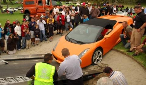 Pebble Beach 2011 Lamborghini Gallardo Sand-trapped - Fail 01