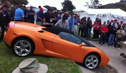 Pebble Beach 2011 Lamborghini Gallardo Sand-trapped - Fail 02
