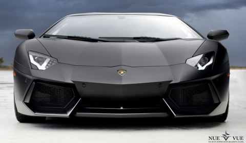 Photo Of The Day Matte Black Lamborghini Aventador LP700-4 Retouched