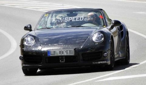 Spyshots 2013 Porsche 991 Turbo Cabriolet