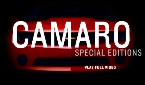 Video Chevrolet Celebrates Special Edition Camaros