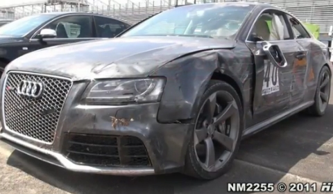 Video Crashed Audi RS5 at Monza