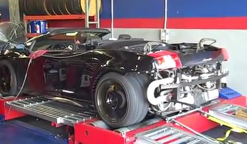 Video Heffner Twin Turbo Lamborghini Gallardo Spyder Dyno Run