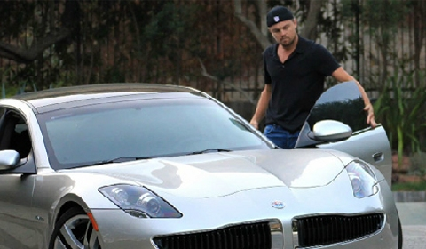Video Leonardo DiCaprio's $100k Fisker Karma Hybrid
