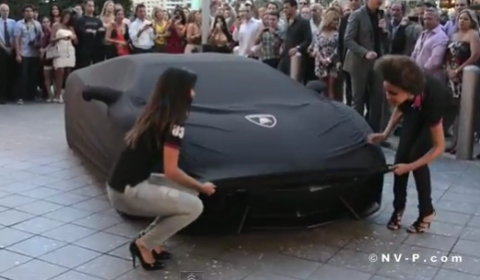 Video Matte Black Lamborghini Aventador LP 700-4 Unveiling in Miami