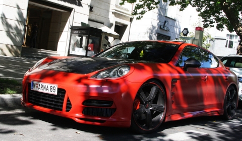 Video Matte Red Anderson Germany Porsche Panamera Exhaust Noise