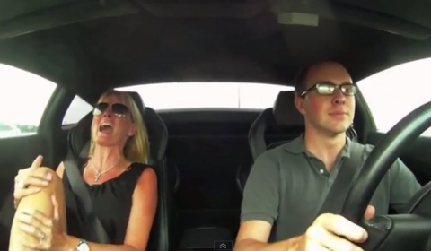 Video Mother's Reaction to 1250WHP Twin Turbo Gallardo