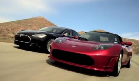 Video Tesla Roadster and Model S Ride Together