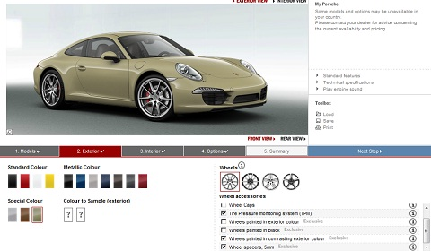 Porsche 911 Carrera S Configurator