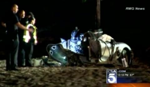 Car Crash Ferrari Splits in Half in Spectacular Crash on Pacific Coast Highway
