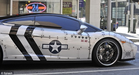 Chris Brown's Fighter Jet Styled Lamborghini Gallardo 01