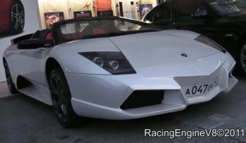Video Lamborghini Murcielago Roadster with Reventon-style Front Bumper